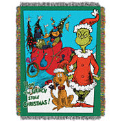 Dr. Seuss The Grinch Tapestry Throw