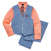 Steve Harvey Boys Woven Pant Suit-Big Kid