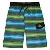 Adidas Boys Energy Stripe Swim Trunks-Big Kid