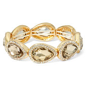 Monet® Brown Stone and Gold-Tone Stretch Bracelet