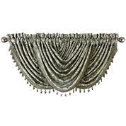 Royal Velvet® Hilton Embroidery Rod-Pocket Waterfall Valance