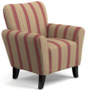June Striped Accent Chair