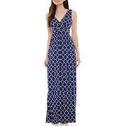 St. John's Bay® Sleeveless Surplus Tiered Maxi Dress - Petite