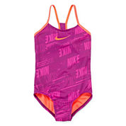 Nike® Print One-Piece Swimsuit - Girls 7-14