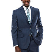 Stafford® Travel Windowpane Suit Jacket - Classic Fit