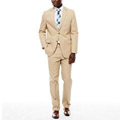 Stafford® Khaki Cotton Suit Separates - Classic Fit