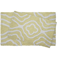 Jean Pierre Giri Reversible Cotton 2-pc. Plush Bath Mat Set