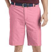IZOD® Oxford Flat-Front Cotton Shorts
