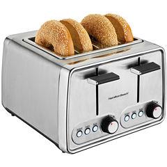 Hamilton Beach® Modern Chrome 4-Slice Toaster