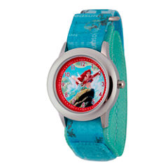 Disney The Little Mermaid Girls Blue Strap Watch-Wds000050