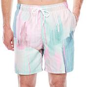 City Streets Pattern Swim Shorts
