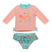 Candlesticks Flamingo Rash Guard Set - Baby