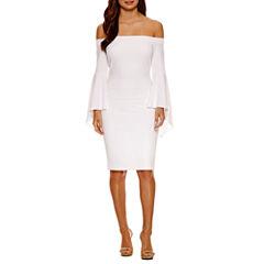 Bisou Bisou Smocked Off The Shoulder Bodycon Dress
