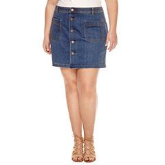 a.n.a Denim Skirt-Plus