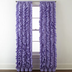 Home Expressions™ Laila Ruffle Rod-Pocket Sheer Curtain Panel