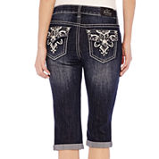 ZCO Bling Cross with Flap Cropped Jeans - Petite