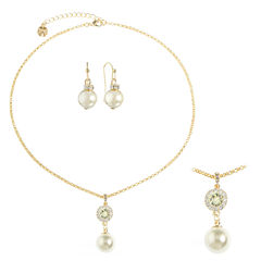 Monet Jewelry Womens 2-pc. Champagne Jewelry Set