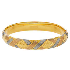 Womens 14K Gold Bangle Bracelet