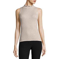 Liz Claiborne Sleeveless Crew Neck Pullover Sweater
