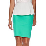 Liz Claiborne® Pique Pencil Skirt - Tall