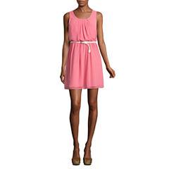 a.n.a® Sleeveless Print Blouson Dress