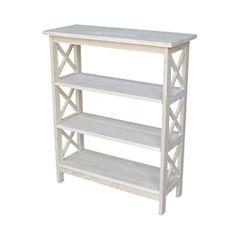 X-Sided 4-Shelf Bookshelf