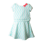 Pinky Striped Crop Top and Skirt Set - Preschool Girls 4-6x