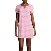 Cool Girl Short-Sleeve One-Button Nightshirt