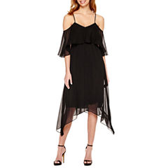 a.n.a Cold Shoulder Flutter Dress