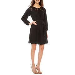 Worthington Long Sleeve Shirt Dress