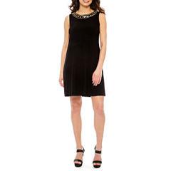 Ronni Nicole Sleeveless Beaded Sheath Dress