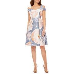 Melrose Cold Shoulder Fit & Flare Dress