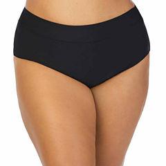 St. John's Bay Solid Brief Swimsuit Bottom - Plus
