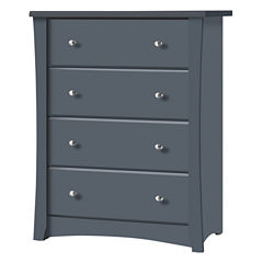 Storkcraft Crescent 4-Drawer Dresser - Gray