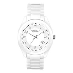 Caravelle New York® Womens White Dial Watch 45M107