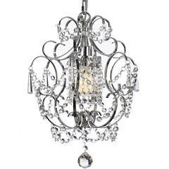 Gallery Versailles 1-Light Chrome and Crystal Chandelier