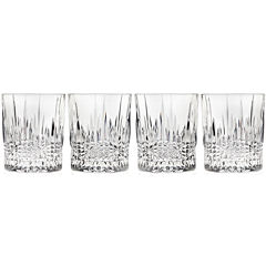 Regency by Godinger Set of 4 Crystal Double Old-Fashioned Glasses