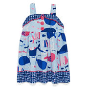 Marmellata Sleeveless Whale-Print Sundress - Baby Girls 3m-24m