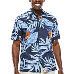 The Havanera Co.® Short-Sleeve Allover Tropical Print Shirt