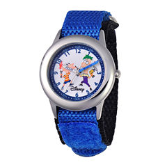 Disney Phineas and Ferb Kids Blue Fast Strap Watch