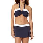 Liz Claiborne® Bandeau Halter Bra Swim Top or Banded Split Swim Skirt - Misses
