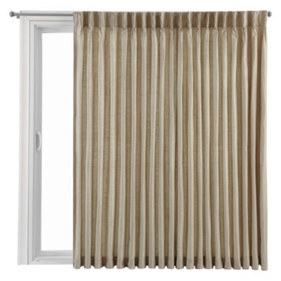 Royal Velvet® Supreme Pinch Pleat/Back Tab Lined Patio Door Panel