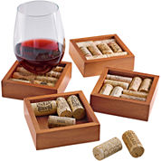 Wine Enthusiast® Set of 4 Wine Cork Coasters