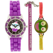 Total Girl Girls Purple Watch Boxed Set-Ttg1004jc