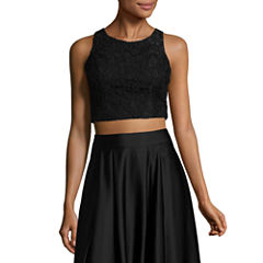 My Michelle Corded Lace Top - Juniors