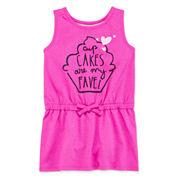 Okie Dokie® Sleeveless Graphic Sundress - Toddler Girls 2t-5t