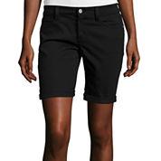 Arizona Roll-Cuff Denim Bermuda Shorts
