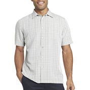 Van Heusen® Short-Sleeve Crosshatch Woven Shirt