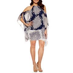 Bisou Bisou Short Sleeve Trapeze Dress