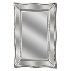 Metro Beaded Scalloped Wall Mirror